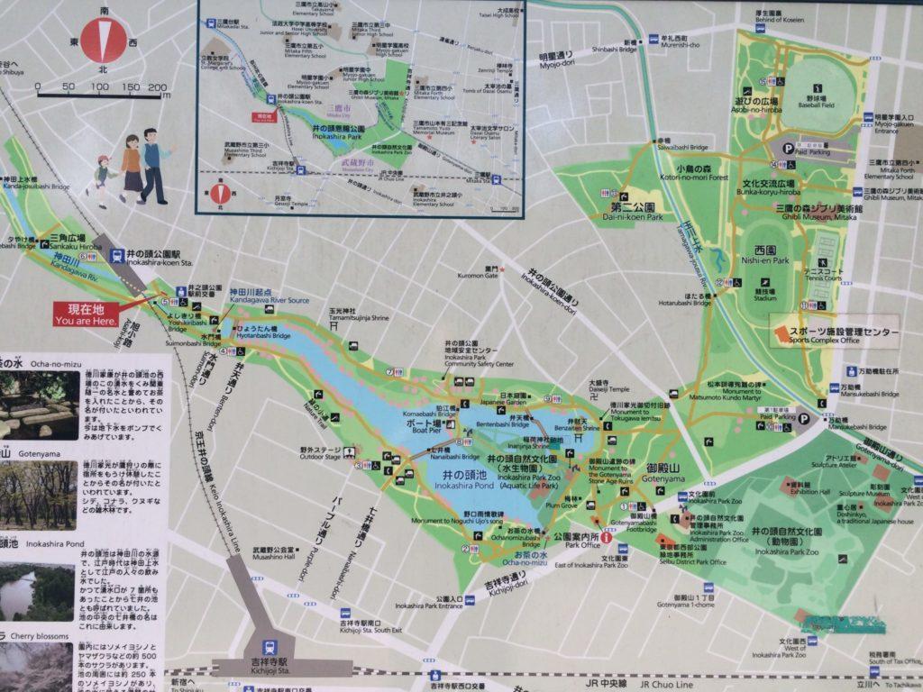 井の頭公園地図