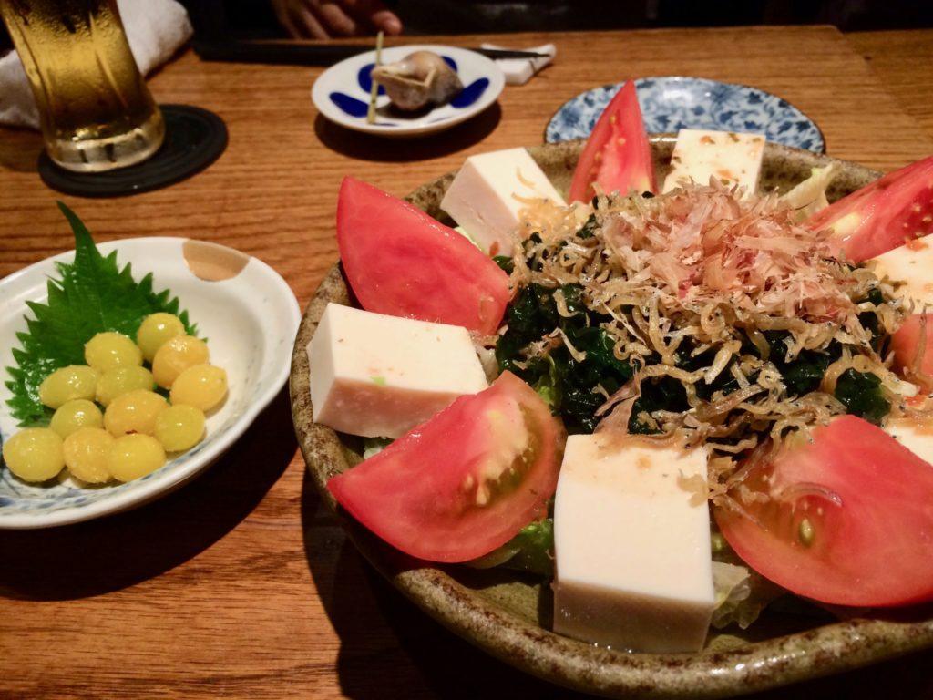 豆腐と揚げじゃこサラダ