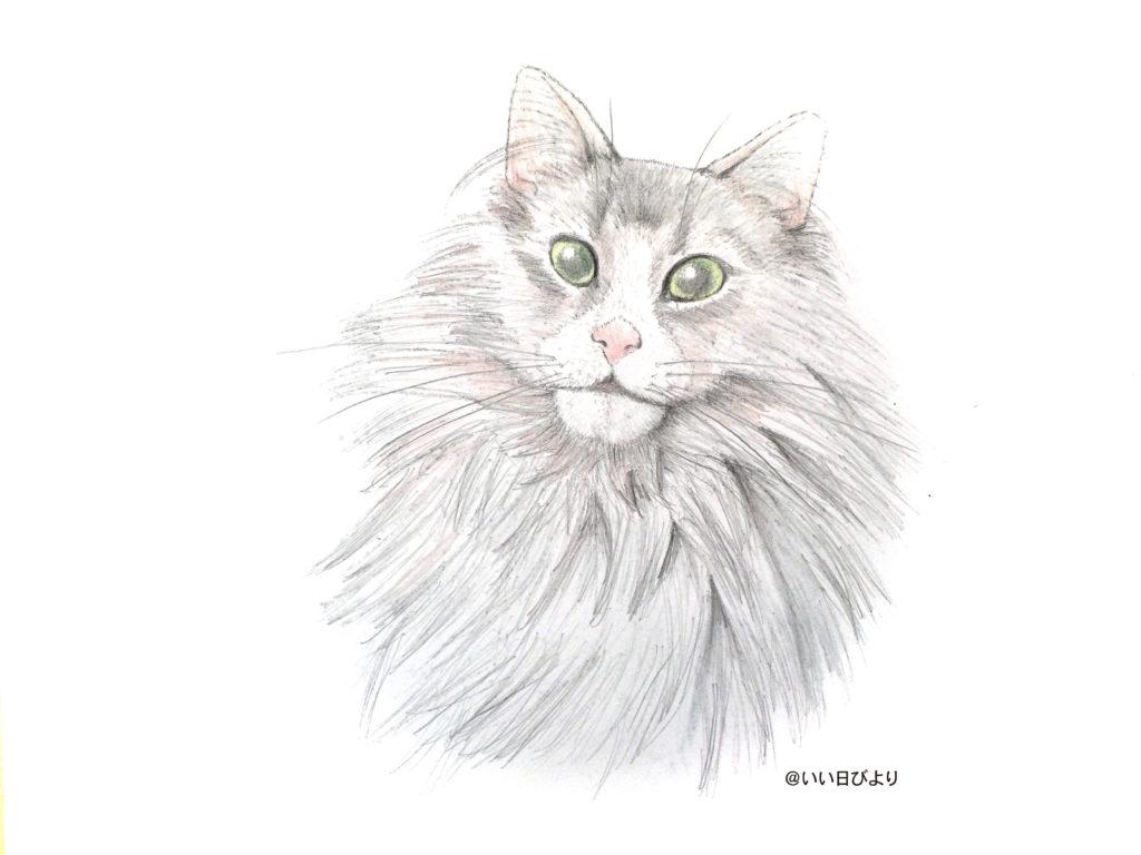 猫手描きキレイに